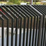 Flat Bar Fencing with Angled section
