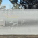 63 Slatted Bin Store Sliding Gate
