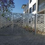 Abstract Design Swing Gate