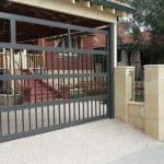Flat Bar and scroll Carport Section Door 174