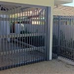 Aluminium Flat Bar Sectional Carport Door 181