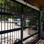 Internal View of Sectional Door on Carport 178