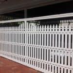 Aluminium Picket Sectional Carport Door 182