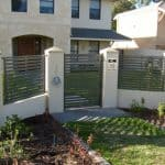 Slatted Infill Fencing with Pedestrian Gate 101