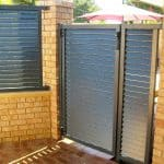 Slatted Louvre Ped Gate, Panel and Infill