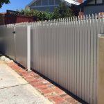 Aluminium Picket Fencing and Sliding Gate 165