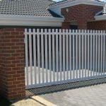 Aluminium Flat Picket Sliding Gate