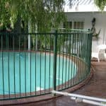 Straight Top Pool Fencing with Bending