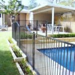 Straight Top Pool Fencing with Gate