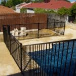 Straight Top Pool Fencing Raked Panel Pool Gate