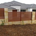 Slatted Wood Look-A-Like Infill Fencing 152