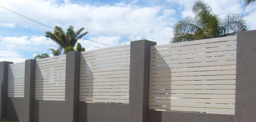 Slatted Infill Fencing 156