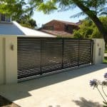 Aluminium Slatted Sliding Gate