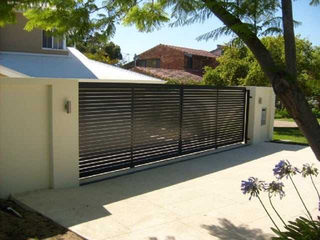 Aluminium Slatted Sliding Gate 46