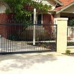 Staggered Spear Sliding Gate