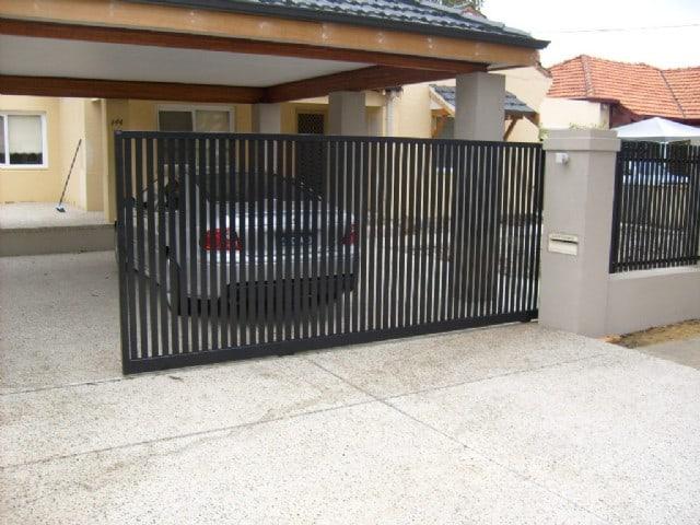 Aluminium Vertical Slatted Gate