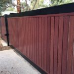 Ali Wood Slatted Sliding Gate