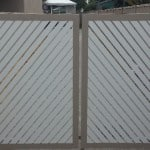 Aluminium Diagonal Slatted Dble Swing Gate