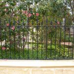 76 Wrought Iron Staggered Spear Fencing