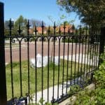 Wrought Iron Fencing with Newell Posts