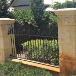 Wrought Iron Fencing with Spear and Scroll