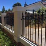 Wrought Iron Infill fencing frontage